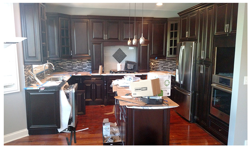 Kitchen Remodel in Progress in Lisle, IL - JW Construction & Design Services