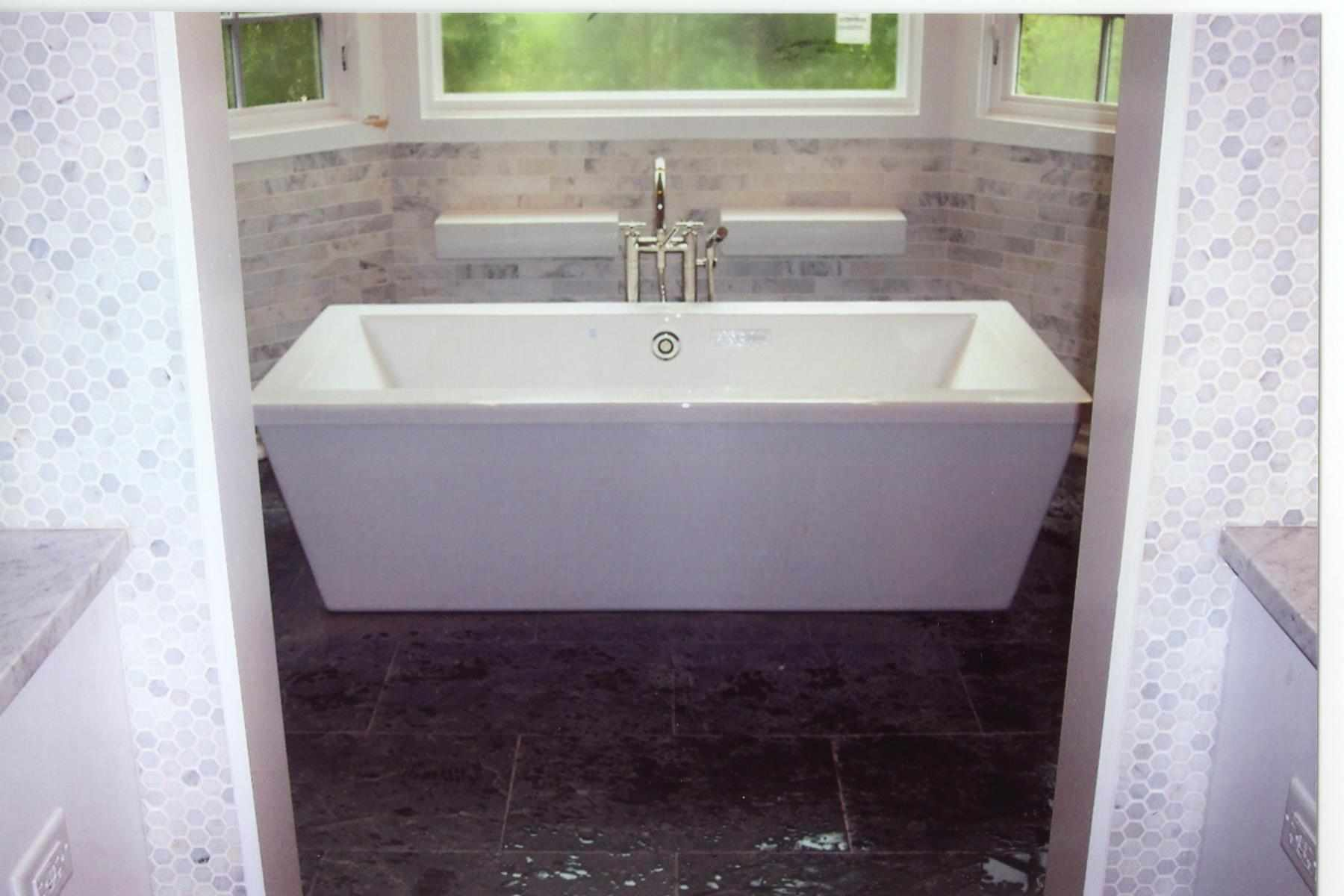 Marble Bathroom Tub Installation Naperville - JW Construction & Design Services