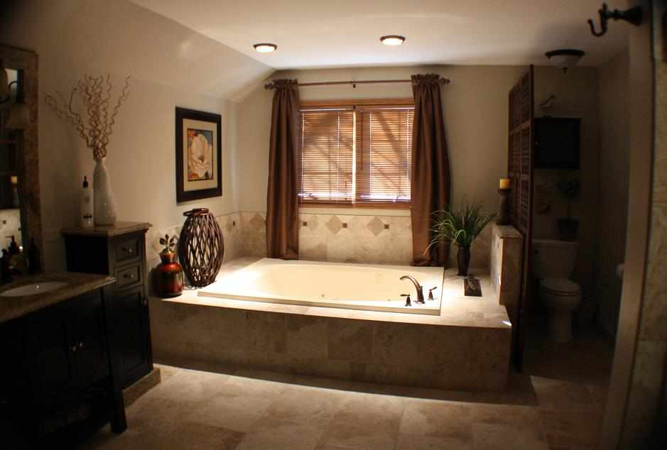 Tropical-Style Bathroom, Chicago area - JWConstructionandDesign.com | Chicago area bathroom remodeling