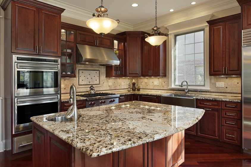 Cherry Kitchen Remodel - JW Construction & Design Studio Services